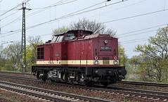 202 483 Saarmund 04.04.2014 (hansvogel51) Tags: germany private deutschland eisenbahn wfl saarmund eisenbahnen dieselloks v100dr br202