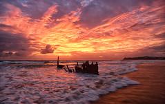 An Unforgettable Dawn at the Dicky (Kristin Repsher) Tags: beach sunrise nikon df australia shipwreck queensland sunshinecoast caloundra ssdicky dickybeach