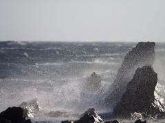 The sea ran high (dayonkaede) Tags: sea wave olympus f28 em1 mc14 m40150mm