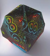 Lamp-shaped Bowl and Lid with a Knob (modular.dodecahedron) Tags: modularorigami tomokofuse origamibox