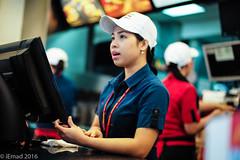 Next order please... (EHA73) Tags: leica food restaurant order fastfood mcdonalds kuwait cashier leicamp summiluxm11450asph typ240