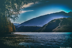In the Shadows of Luminosity (Kevin_Jeffries) Tags: lighting blue light sky mountain lake tree water landscape duck flickr outdoor hill border surreal cave serene cavern birdlife luminosity kevinjeffries