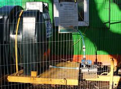 cages 2 (dick_pountain) Tags: london fence wire earth soil parliamenthill earthmoving cages excaavation pondsproject
