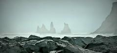 It's only rocks... (Reynisdrangar, Iceland) (armxesde) Tags: winter sea dykes mist fog island iceland rocks nebel pentax atlantic vik ricoh basalt k3 reynisdrangar felsnadeln icestacks