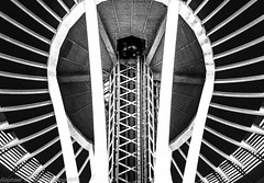 Looking Up The Space Needle! (Raphael de Kadt) Tags: seattle