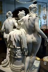 Royal Porcelain Factory, Naples (after Roman original) - The Three Graces (1785-90), Victoria & Albert Museum, Apr 2016 - 4 (ketrin1407) Tags: sculpture statue naked nude erotic sensual va threegraces naples porcelain 18thcentury thalia graces statuette victoriaalbertmuseum figuring euphrosyne aglaia charites late18thcentury
