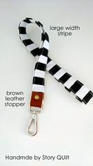 large width black and white stripes leather landyard (STORY QUILT) Tags: blackandwhite leather key holder lanyard idholder fashionlanyard