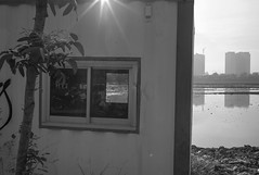 L9991755bw (ferry160102) Tags: bw reflection waduk pluit