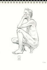2016 05 13 Homme nu 003 (karl_nemo1954) Tags: man sketch nu crayon homme croquis