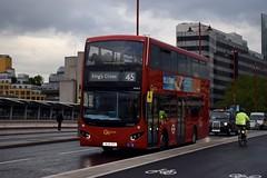 Go-Ahead London subsidiary London Central MCV EvoSeti bodied Volvo B5LH (MHV3 - BU16 OYL) 45 (London Bus Breh) Tags: bus london buses volvo blackfriars hybrid blackfriarsbridge tfl londonbuses mcv transportforlondon goahead londoncentral mhv hybridbus hybridtechnology route45 volvobus goaheadlondon goaheadgroup volvob5l manufacturingcommercialvehicles volvob5lh volvob5lhybrid mcvbusandcoach londonbusesroute45 mcvevoseti evoseti 16reg mhv3 bu16oyl