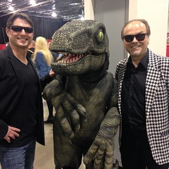 Tom, Jack, and Charlie (captainsparrow) Tags: raptor tomcruise motorcitycomiccon velociraptor jacknicholson mccc jurassicworld mccc2016 motorcitycon2016