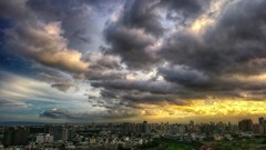 Take the high ground ( Taichung, Taiwan ) 200 (rightway20150101) Tags: taichung taiwan city clouds sunset   yellow   hdr