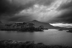 Connemara (PWD. Photography) Tags: ireland sky blackandwhite bw white lake black contrast landscape grey connemara highkey tone