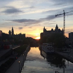 Rideau Canal sunset. #ottawa #mytown #sunset (iamwildunknown) Tags: camera project 365