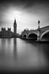 Westminster (PeaStew) Tags: london uk landscape thames river estuary mood mono blackandwhite cities bridge history canon serene cityscape westminster architecture reflection buildings silver tonal