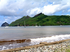 NukuHiva_7590 (Slackadventure) Tags: sun water boats islands sailing pacificocean cruisers circumnavigation marquesas slackadventure