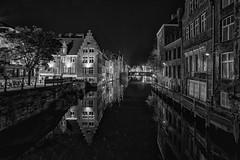 Gent - Nacht sw (der-aus-jena) Tags: a6000 e1018mmf4oss flandern gent ilce6000 kraanlei nachtaufnahme pfingsten sel1018f4oss