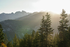 Minaret Vista (shaunezell) Tags: california ca travel camping camp sky cliff mountain mountains tree clouds landscape hiking peaceful campfire mammoth yosemite goldenhour mountainrange