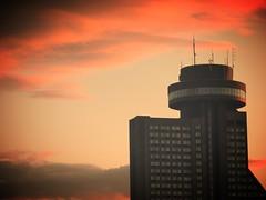 Hotel concorde Qubec... (mariej55quebec) Tags: sky orange cloud night restaurant hotel ciel qubec concorde nuit