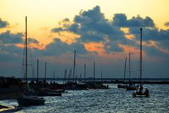 Quarantine Shores (chadbach) Tags: ocean sunset water boats bay boat sailing texas 200 sail 2016