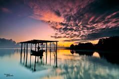 The gone reflection (tuan azizi) Tags: standing sunrise tokina cokin d90 capturenx gnd8 zpro jubakarpantai