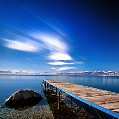 Blue (Rilind Hoxha) Tags: blue mountain lake different serenity deepbluesky longexpo calmlake ohridlake 10stops nd10 calmscene daytimelongexpo longexposureintheday nationalparkmaceonia ohridlakephotography