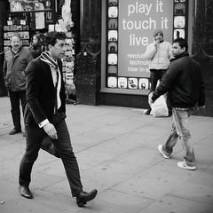 A gust of wind (Ian Brumpton) Tags: street blackandwhite bw blancoynegro noiretblanc candid londres londonstreetphotography ianbrumpton aimlessstrolling londonatlarge
