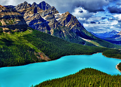 Peyto Blue Magic (Jeff Clow) Tags: blue lake nature landscape albertacanada banffnationalpark peytolake glaciallake