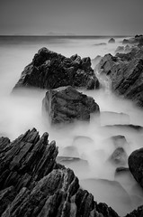 Stormy day (The Nature Guy) Tags: sea blackandwhite bw seascape storm water norway landscape coast norge nikon rocks meer waves lenses kste giske 18200mmf3563dc norwegan gody ndgradfilter mreandromsdal d7000