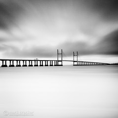Bridge over Milky Waters (images through a lens) Tags: longexposure bridge severn coastal secondseverncrossing severnestuary