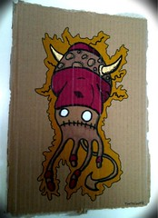 DOOD ON RECYCLED CARDBOARD (Photocoyote) Tags: recycled cardboard markers photocoyote