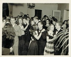 Some pretty happy looking party goers (sctatepdx) Tags: party found dance 1940s vernacular vintagedresses oldsnapshot vintagesnapshot