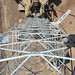 REME Engineer Climbing a Communcations Tower in Afghanistan