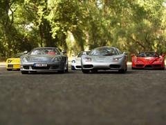Lamborghini Murcielago Porsche Carrera GT Maserati MC12 McLaren F1 Ferrari Enzo (Super Cars) Tags: f1 ferrari mclaren porsche enzo gt lamborghini mc12 maserati carrera murcielago