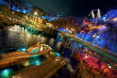 Mysterious Island: The Nautilus (jdhilger) Tags: travel disneysea water japan night tokyo shibuya disney submarine drill tokyodisneysea mysteriousisland tokyodisneylandresort vulcania juleverne disneyparks afszoomnikkor1424mmf28ged
