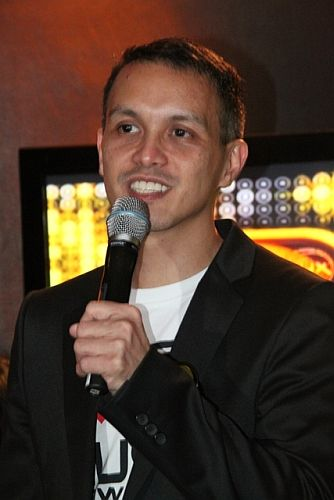 1 MYX Channel Head Andre Allan Alvarez duringMMA 2012 announcement of nominees (photo by Allan Sancon)
