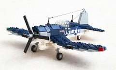 F4U Corsair (11) (Mad physicist) Tags: lego military corsair usnavy f4u