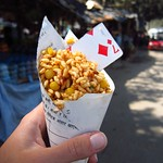 "Bhel Puri with Card-Spoon <a style=""margin-left:10px; font-size:0.8em;"" href=""http://www.flickr.com/photos/14315427@N00/6849444160/"" target=""_blank"">@flickr</a>"