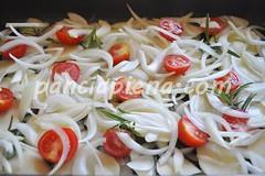 patate al forno con cipolla e pomodorini