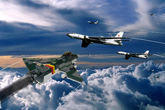 Junkers EF-1000 vs Tu-16 (Enon) Tags: germany fighter soviet ww2 third torpedo bomber luft reich 46 interceptor junkers attacker luft46 ef1000