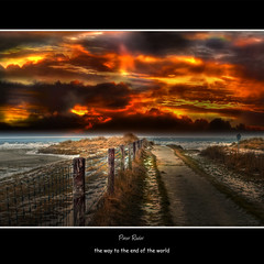 the way to the end of the world (Explore, Frontpage) (Peter Roder) Tags: world schnee winter shadow sun mist snow storm reflection ice water grass birds clouds port way see coast frozen sonnenuntergang sundown harbour dusk wolken northsea thunderstorm gras eis sonne nordsee sonnenaufgang gewitter weg reflektion dunst unwetter gefroren