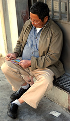 Lotto man scratch (Khara Huberman) Tags: chinatown lottery lotteryticket springstreet downtownlosangeles springstreetminimart