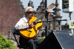 Ranchera Guitarist (jmruizn2) Tags: city music mexico outdoors concert stage performance center mexican acoustic guitarist zocalo ranchera