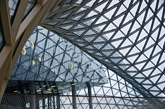 myZeil (Cybergabi) Tags: glass architecture modern triangles reflections frankfurt explore shoppingmall network massimilianofuksas 20f myzeil