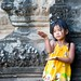 A young girl visiting the Angkor Wat temple complex near Siem Riep, Cambodia.  © David Snyder/CDC Foundation