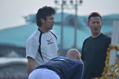DSC_0058 (mechiko) Tags: 横浜ベイスターズ 120209 新沼慎二 鶴岡一成 横浜denaベイスターズ 2012春季キャンプ