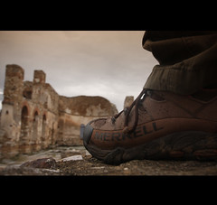 the conqueror (fofiko) Tags: old church shoe greece merrell prespa prespes agachillios westmacedonia fofiko