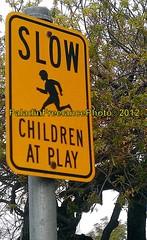 Children at Play (PaladinSD) Tags: street family playing sign danger speed warning children driving play slow neighborhood caution recreation residential speeding motorist motorists