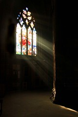 IMG_0733 light and dark. (Olive Taylor. Thank you for your visit.) Tags: light church window canon shadows beautifullight stainedglass foof rays chestercathedral flikcrtoday lespacedevie geatimages