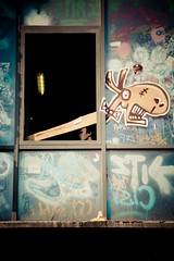 Watch out (Pensiero) Tags: wood horse man berlin window face graffiti pain tail finestra uomo murales cavallo viso cosa tacheles legno berlino volto